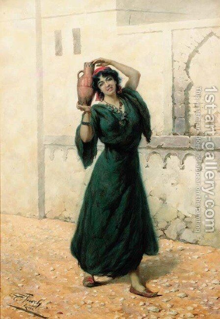 The Watercarrier by Giuseppe Aureli - Reproduction Oil Painting