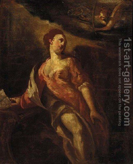 Saint Cecilia by Giuseppe Bazzani - Reproduction Oil Painting