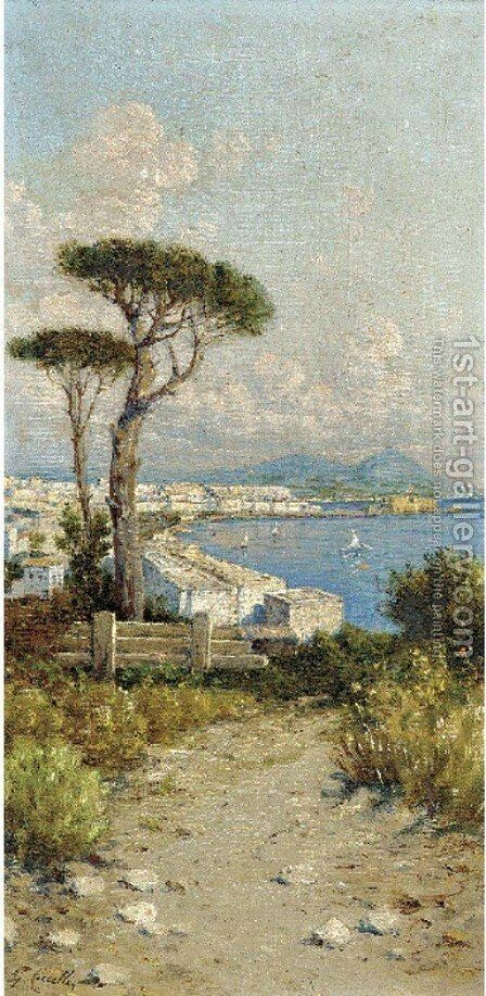 Above the Bay of Naples by Giuseppe Carelli - Reproduction Oil Painting