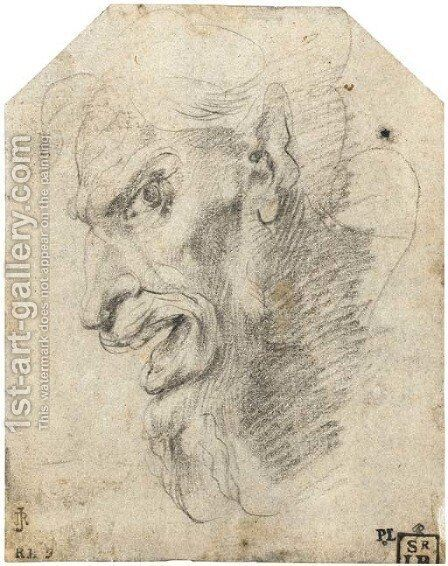 The head of a satyr turned to the left by Giuseppe (d'Arpino) Cesari (Cavaliere) - Reproduction Oil Painting