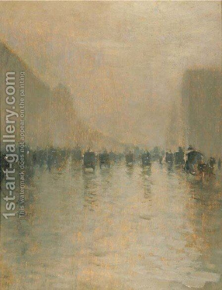 Giorno di nebbia a Londra (Foggy day in London) by Giuseppe de Nittis - Reproduction Oil Painting