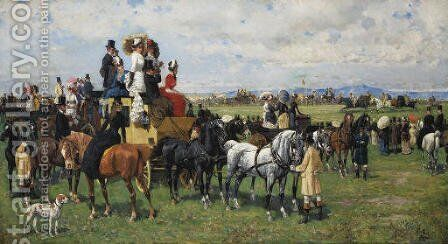 The Derby Reale by Giuseppe Gabani - Reproduction Oil Painting