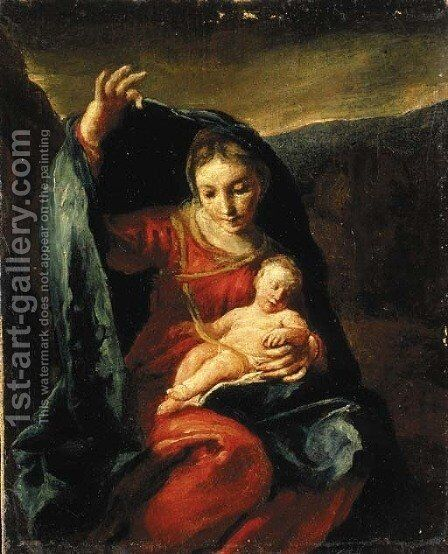 The Madonna and Child by Giuseppe Maria Crespi - Reproduction Oil Painting