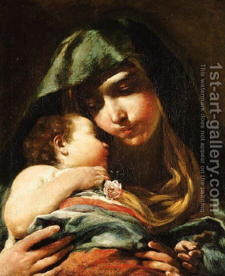 The Madonna and Child 2 by Giuseppe Maria Crespi - Reproduction Oil Painting