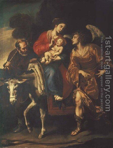 The Flight into Egypt by Giuseppe Marullo - Reproduction Oil Painting