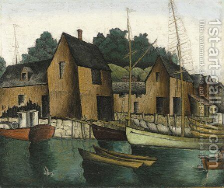 Rockport by Glenn O Coleman - Reproduction Oil Painting