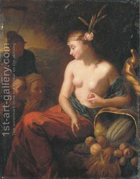 Ceres by Godfried Schalcken - Reproduction Oil Painting