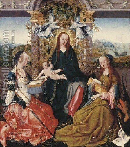 The Virgin and Child with Saint Catherine of Alexandria and Saint Margaret of Antioch by Goossen van der Weyden - Reproduction Oil Painting