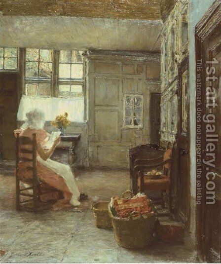 Sonntag Nachmittag by Gotthardt Kuehl - Reproduction Oil Painting
