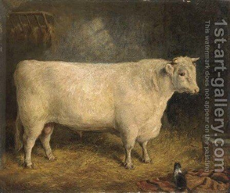 A prize bull by Gourlay Steell - Reproduction Oil Painting