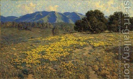 California Poppies by Granville Redmond - Reproduction Oil Painting