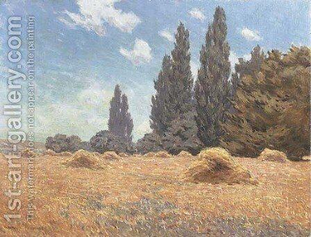 Haystacks, California by Granville Redmond - Reproduction Oil Painting