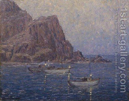 Moonlight, Catalina by Granville Redmond - Reproduction Oil Painting