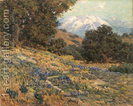 Old Baldy Mountain by Granville Redmond - Reproduction Oil Painting