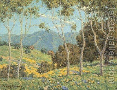 Poppies and Eucalyptus 2 by Granville Redmond - Reproduction Oil Painting