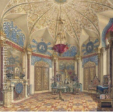 A room in the Winter Palace, St. Petersburg by Grigori Grigorevich Chernetsov - Reproduction Oil Painting