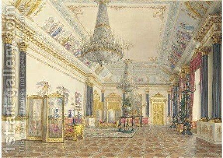 The Golden drawing-room, The Winter Palace, St. Petersburg by Grigori Grigorevich Chernetsov - Reproduction Oil Painting