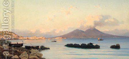The Bay Of Naples by Guglielmo Ciardi - Reproduction Oil Painting
