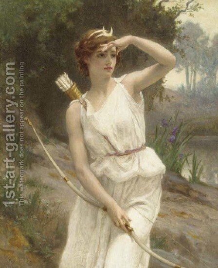 Diana, The Huntress by Guillaume Seignac - Reproduction Oil Painting