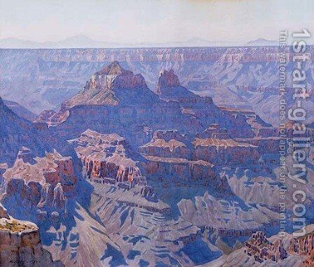 Grand Canyon 3 by Gunnar Mauritz Widforss - Reproduction Oil Painting