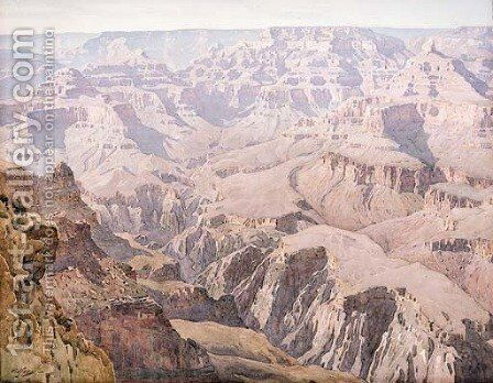 Yavapai Point by Gunnar Mauritz Widforss - Reproduction Oil Painting