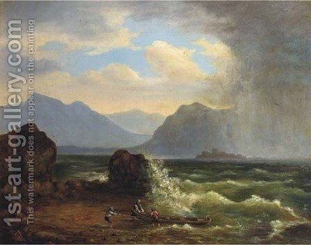 The approaching storm by Gustav Adolf Friedrich - Reproduction Oil Painting