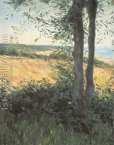 Bord de mer, Normandie by Gustave Caillebotte - Reproduction Oil Painting