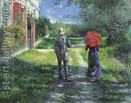 Chemin montant by Gustave Caillebotte - Reproduction Oil Painting