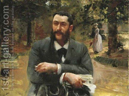 L'homme au Gil Blas by Gustave Caillebotte - Reproduction Oil Painting