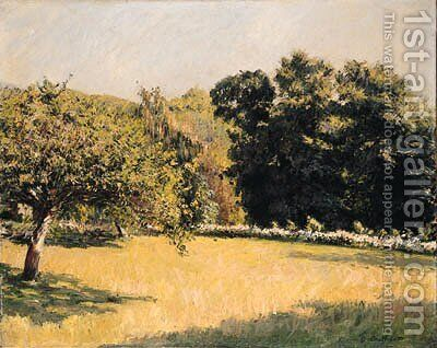Un Jardin  Trouville (A Garden in Trouville) by Gustave Caillebotte - Reproduction Oil Painting