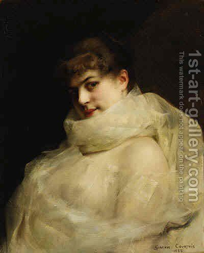 An Elegant Lady by Gustave Claude Etienne Courtois - Reproduction Oil Painting