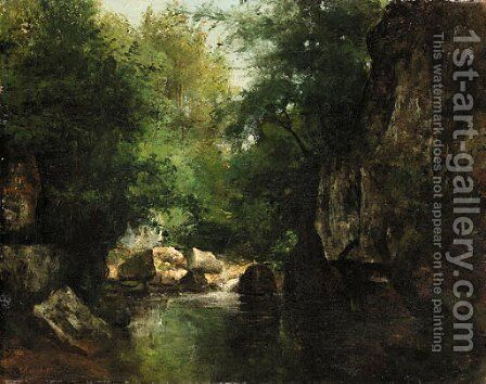 Landscape 2 by Gustave Courbet - Reproduction Oil Painting
