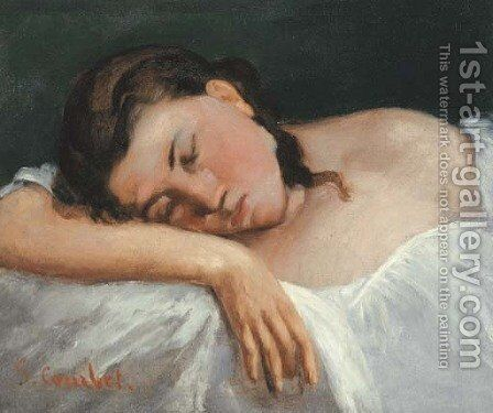Jeune fille dormant by Gustave Courbet - Reproduction Oil Painting