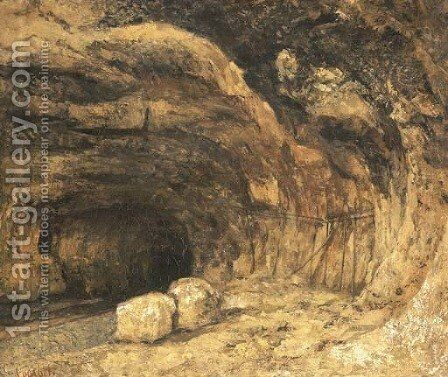 La grotte humide by Gustave Courbet - Reproduction Oil Painting
