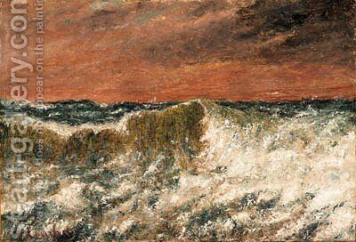 La vague by Gustave Courbet - Reproduction Oil Painting