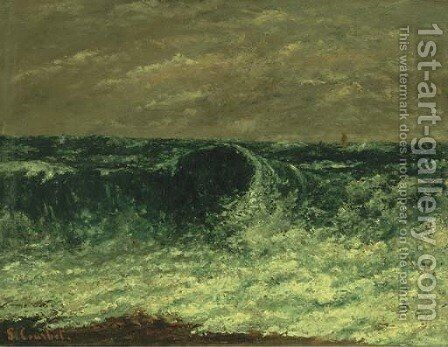 La Vague 2 by Gustave Courbet - Reproduction Oil Painting