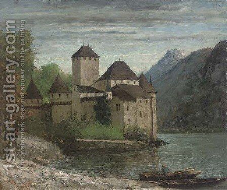 Le Chateau de Chillon by Gustave Courbet - Reproduction Oil Painting