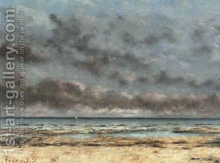 Mer calme by Gustave Courbet - Reproduction Oil Painting