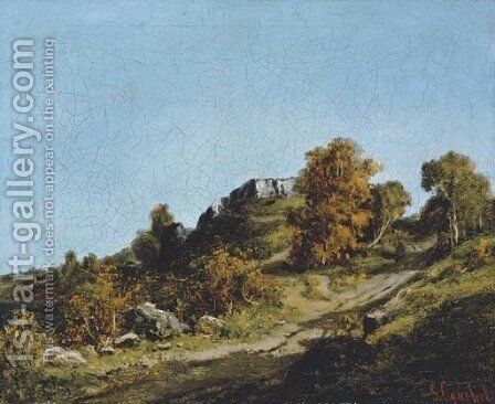 Paysage aux environs d'Ornans by Gustave Courbet - Reproduction Oil Painting