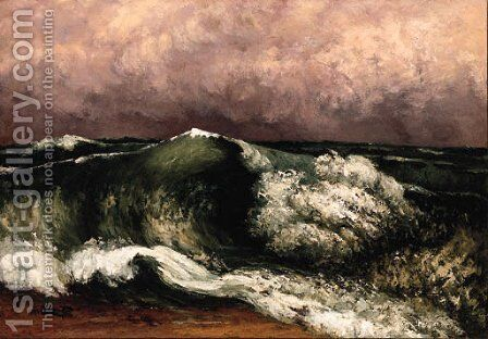 La Vague 3 by Gustave Courbet - Reproduction Oil Painting