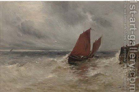At Peel, Isle of Man, a sketch by Gustave De Breanksi - Reproduction Oil Painting
