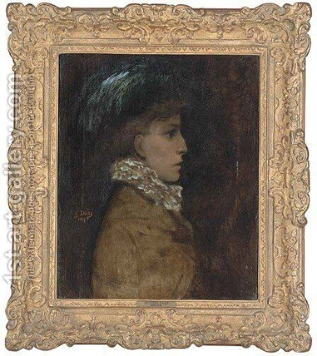 Sarah Bernhardt by Gustave Dore - Reproduction Oil Painting