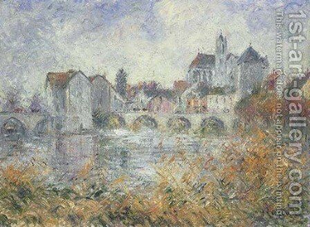 Moret-sur-Loing by Gustave Loiseau - Reproduction Oil Painting