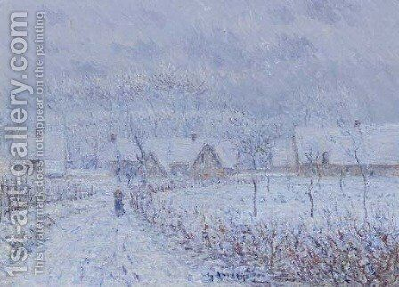 Paysage en hiver by Gustave Loiseau - Reproduction Oil Painting