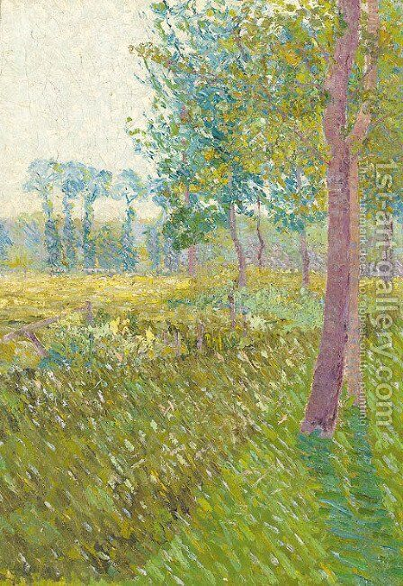 Peupliers au bord d'un champ by Gustave Loiseau - Reproduction Oil Painting
