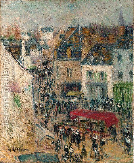 Rue a Pont-Aven, Finistere by Gustave Loiseau - Reproduction Oil Painting