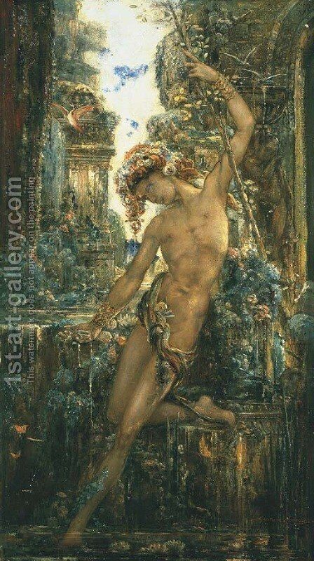 Narcissus by Gustave Moreau - Reproduction Oil Painting