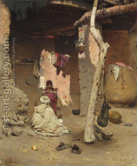 Preparing the Wool by Gustave Nicolas Pinel - Reproduction Oil Painting