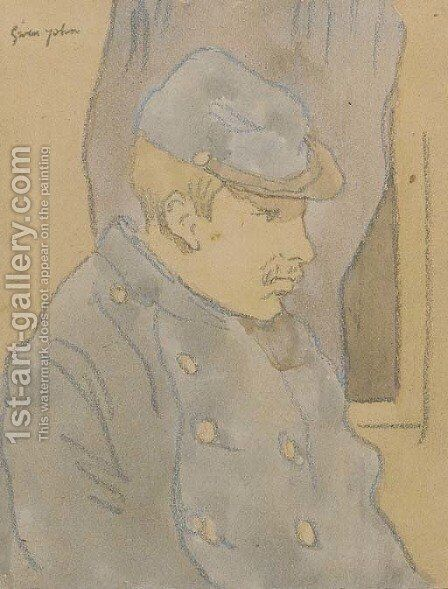 Profile study of a Poilu by Gwen John - Reproduction Oil Painting