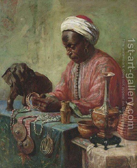 The Jewelry Maker by Gyula Tornai - Reproduction Oil Painting